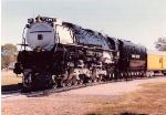 UP 3977 On Display In North Platte, Before Being Painted Into Grayhound